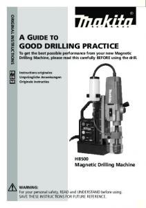A Guide to Good drillinG Practice