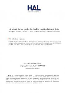 A latent factor model for highly multi-relational data