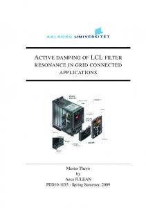 ACTIVE DAMPING OF LCL FILTER