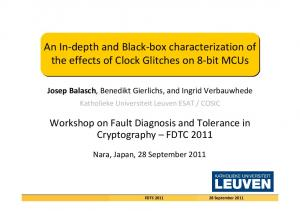 An In and Black box characterization of Clock Glitches 8 …