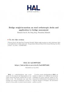 Bridge weigh-in-motion on steel orthotropic decks and