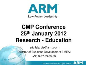 CMP Conference 25th January 2012