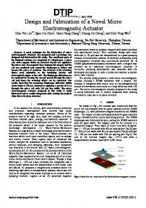 Design and Fabrication of a Novel Micro Electromagnetic