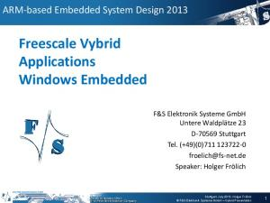 Freescale Vybrid Applications Windows Embedded
