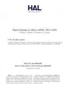 Impact damage on silicon carbide: first results