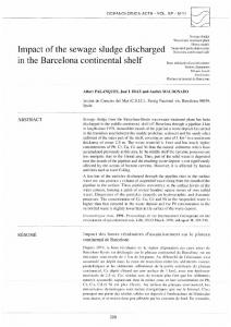 Impact of the sewage sludge discharged in the Barcelona