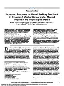 Increased Response to Altered Auditory Feedback in