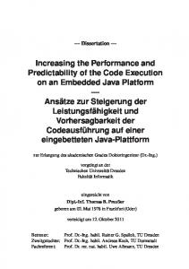 Increasing the Performance and Predictability of the …