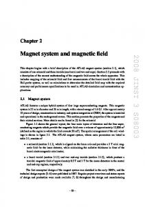 Magnet system and magnetic field - -
