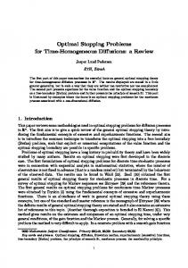 Optimal Stopping Problems for Time-Homogeneous …