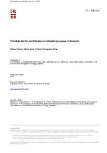 Potentials for the electrification of industrial processes