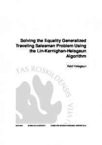 Solving the Equality Generalized Traveling Salesman