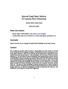 Spectral Graph-Based Methods for Learning Word …