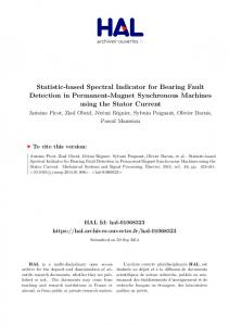 Statistic-based Spectral Indicator for Bearing Fault