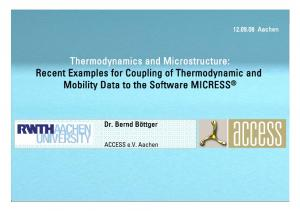 Thermodynamics and Microstructure: Recent Examples for