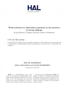 Weak solutions to lubrication equations in the presence of