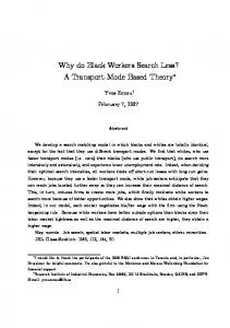 Why do Black Workers Search Less? A Transport-Mode …