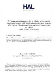 Ws,p-approximation properties of elliptic projectors on